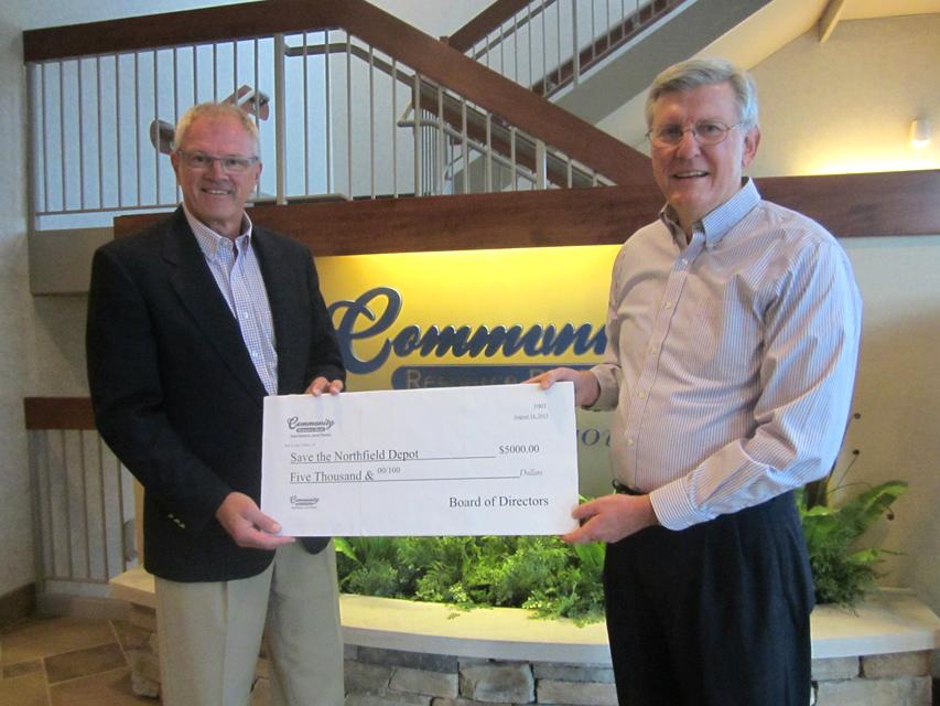 Community Resource Bank donation