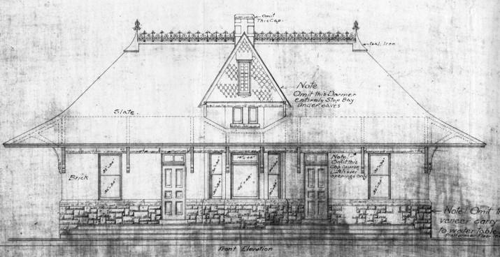 blueprint of depot exterior