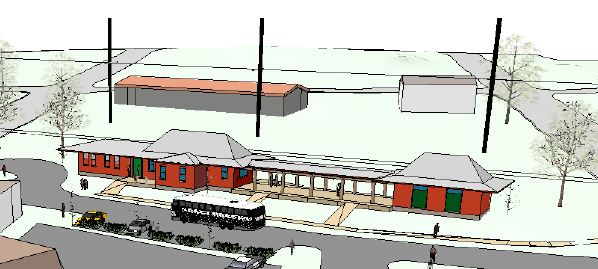 concept layout of depot on Q-Block