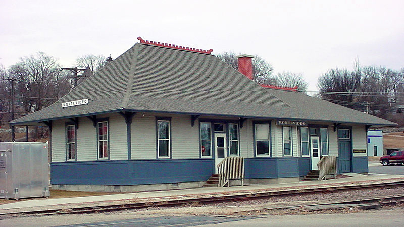 Milwaukee Depot in Montevideo, Minnesota