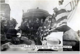 William Howard Taft campaigning in Northfield