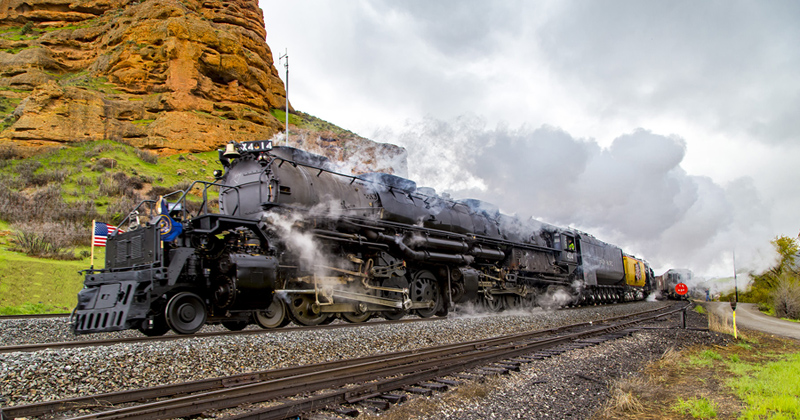 Union Pacific Big Boy #4014 in route to Ogden, Utah